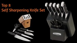 Self sharpening knife set